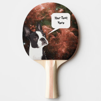 Funny Space Dog Custom Ping Pong Paddle