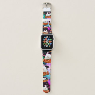 Funny space guinea pig apple watch band