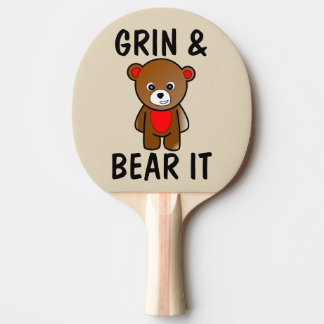 Funny Spanking Paddles, GRIN & BEAR IT Ping Pong Paddle