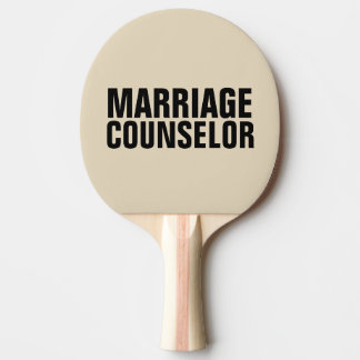 Funny Spanking Paddles, Marriage Counselor Ping Pong Paddle