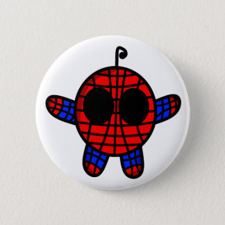 funny spideman dude 6 cm round badge