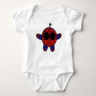 funny spideman dude baby bodysuit