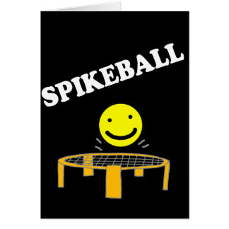 Funny Spikeball Net with Smile Face Art Card