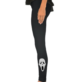 Funny Spooky Ghost Scream Face - Happy Halloween Leggings