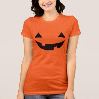 Funny Spooky Jack O'Lantern Face Happy Halloween T-Shirt