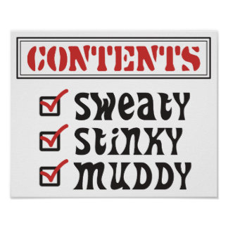 Funny Sports - © Contents: Sweaty, Stinky, Muddy Poster