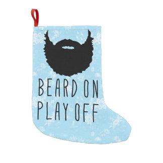 Funny Sports Playoff Beard Christmas Stocking