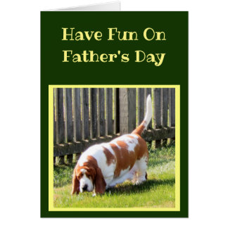 Funny Sports Themed Father's Day Card w/Basset