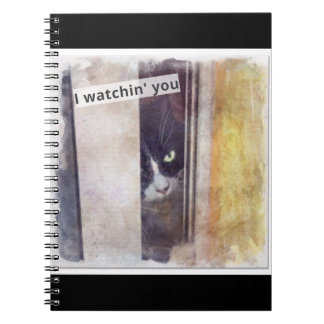 Funny Spy Cat Spiral Note Book
