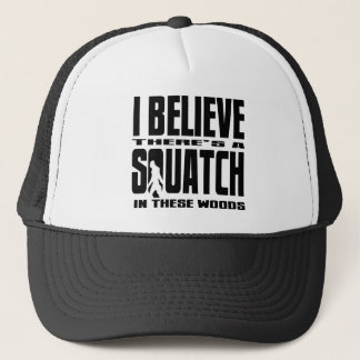 Funny Squatch Hunter Trucker Hat