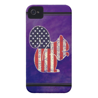 Funny Squirrel Distressed American Flag Patriotic iPhone 4 Cover