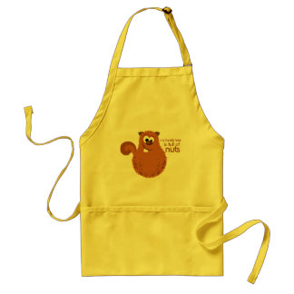 Funny Squirrel Kitchen Apron