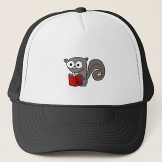 Funny Squirrel Reading Are you Nuts Book Cap