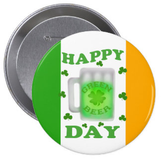 Funny St Patrick s Day Green Beer Button