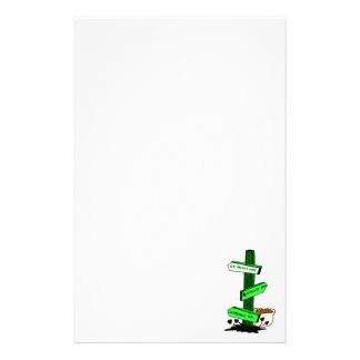 Funny St. Patrick's Day Sign Post Stationery
