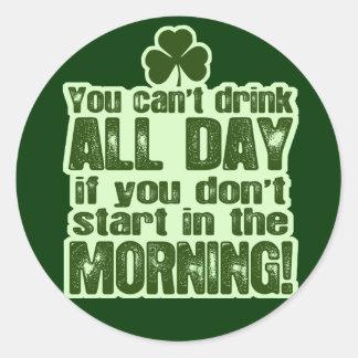 Funny St Patrick's Day Irish Sticker