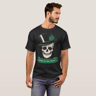 Funny St. Patrick's Day Irish To The Bone Skull T-Shirt