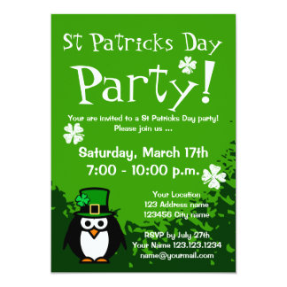 Funny St Patricks Day party invitations | Custom