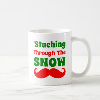 Funny Staching Through The Snow Coffee Mug