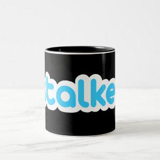 Funny stalker Two-Tone mug