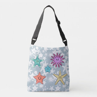 Funny Starfish collection with a smirk Crossbody Bag