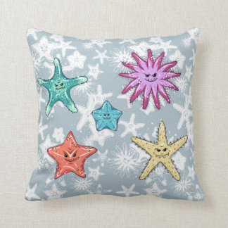 Funny Starfish collection with a smirk Cushion