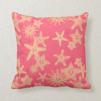 Funny Starfish rouge-lemonade pattern Cushion
