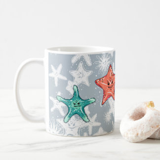 Funny Starfish with a smirk Coffee Mug