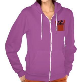 Funny staring cartoon owl hoodie