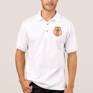 Funny staring cartoon owl polo t-shirt