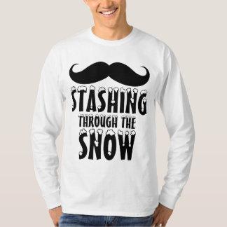 Funny Stashing Through the Snow Long Sleeve T-Shirt