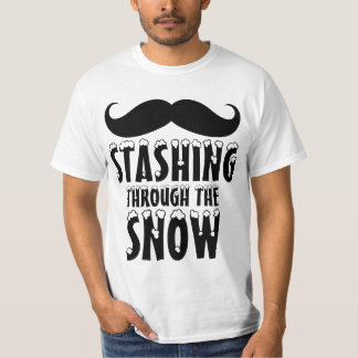 Funny Stashing Through the Snow T-Shirt