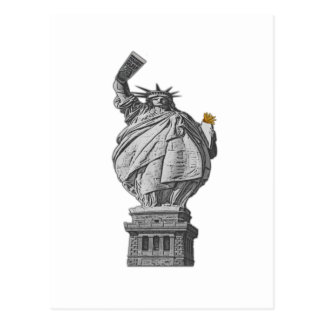 Funny statue of liberty postcard