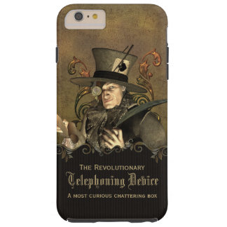 Funny Steampunk Mad Hatter Tough iPhone 6 Plus Case