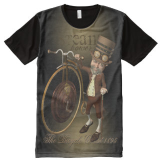 Funny Steampunk Penny Farthing Bicycle