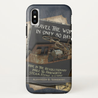 Funny Steampunk Rusty Flying Machine Air Travel iPhone X Case