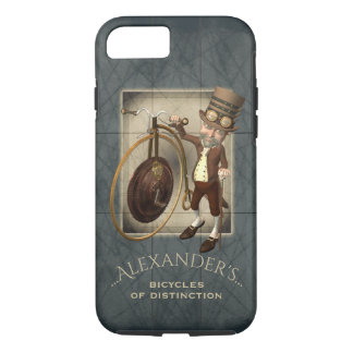 Funny Steampunk Victorian Penny Farthing iPhone 8/7 Case