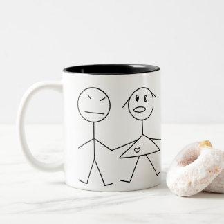 Funny Stick Figure Couple Coffee Mug