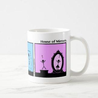 Funny Stickman House Of Mirrors Mug