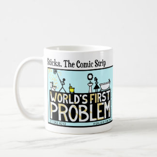 Funny Stickman World's First Problem Mug