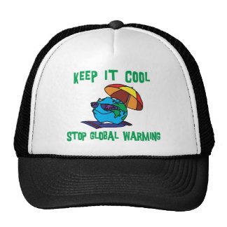 Funny Stop Global Warming Gift Hats
