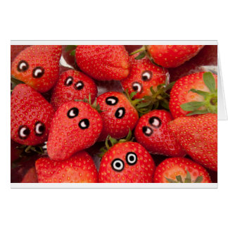 Funny strawberries. card