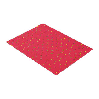 Funny strawberry background red doormat