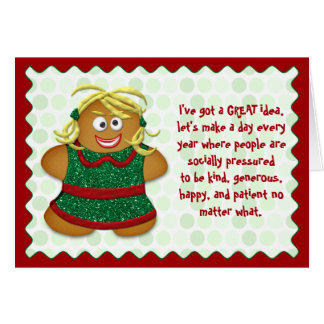 Funny Stress Free Christmas Greeting Card