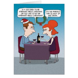 Funny Stressed About Christmas Card