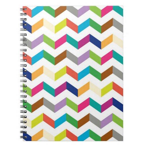 Funny stripe spiral note book