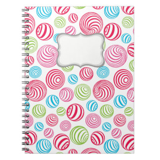 Funny Striped Candies in pastel colors Notebooks