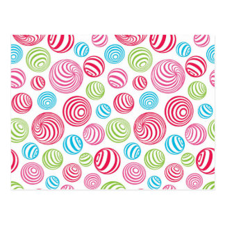 Funny Striped Candies in pastel colors Postcard