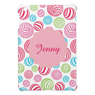 Funny Striped Christmas Candies in pastel colors iPad Mini Covers