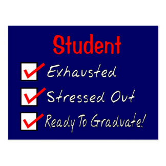 "Funny Student Gifts ""Ready To Graduate!"" Postcard"